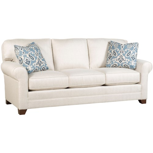 Morris Home Furnishings Bentley Customizable 3-Seat Stationary Sofa