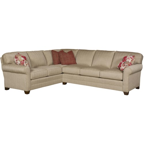 King Hickory Bentley 2-Piece Customizable Sectional