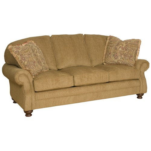 Morris Home Furnishings Boston  Traditional Comfort Sofa