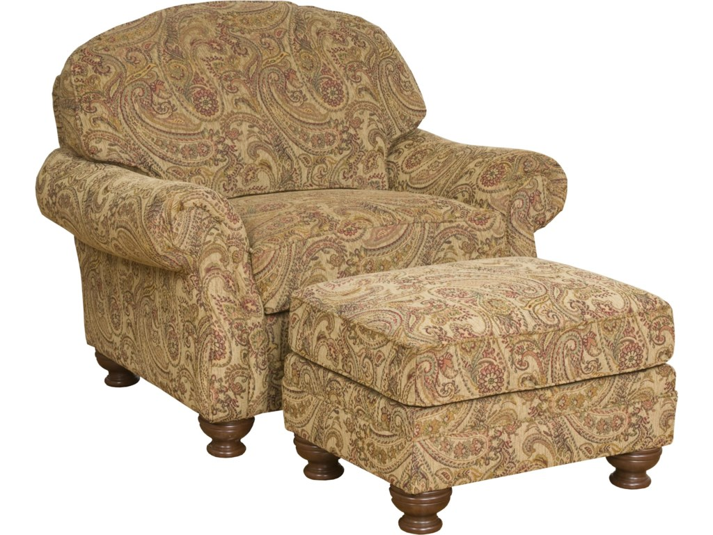 Shown with Upholstered Accent Ottoman
