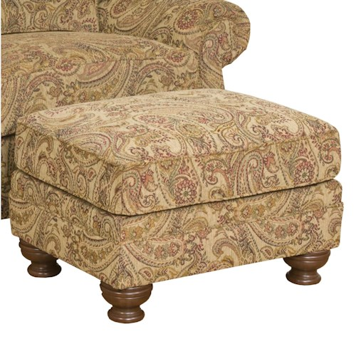 Morris Home Furnishings Boston  Plush Accent Ottoman