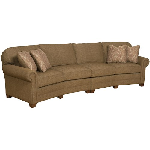 Morris Home Furnishings Brighton  2 Piece Conversation Sofa with Exposed Wood Legs
