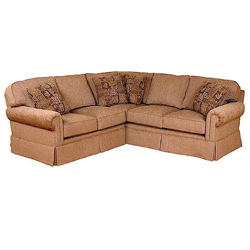 Morris Home Furnishings Brighton  Skirted Corner Sectional Sofa