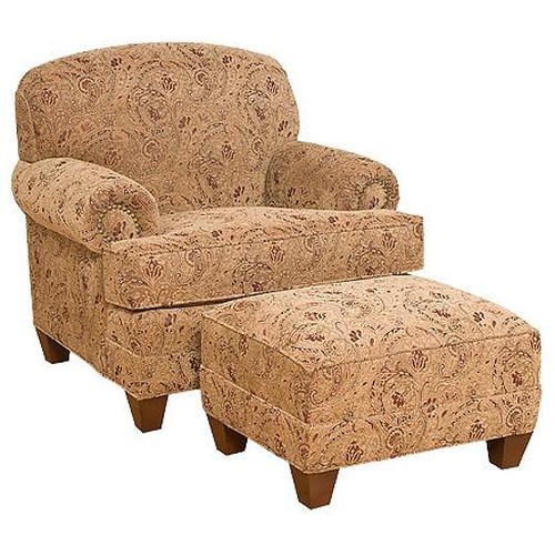 Morris Home Furnishings Callie Traditional Companion Chair with Ottoman