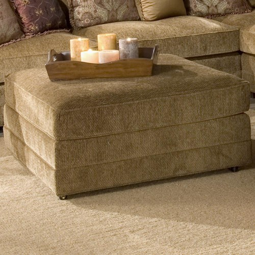 Morris Home Furnishings Casbah Transitional Square Ottoman