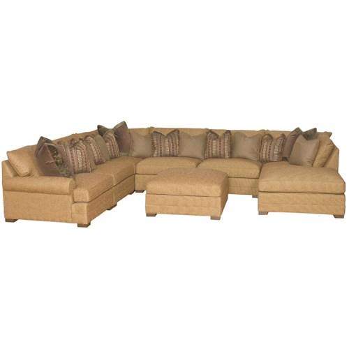 King Hickory Casbah Transitional U Shaped Sectional Sofa
