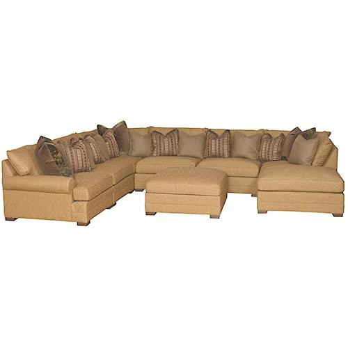 Morris Home Furnishings Casbah Transitional U Shaped Sectional Sofa