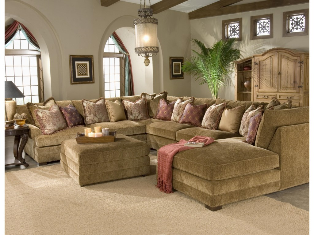 Shown in Room Setting with Ottoman