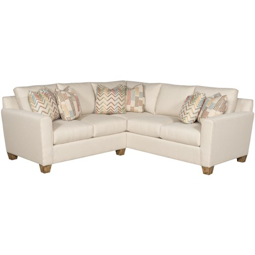 Morris Home Furnishings Darby Customizable Sectional Sofa