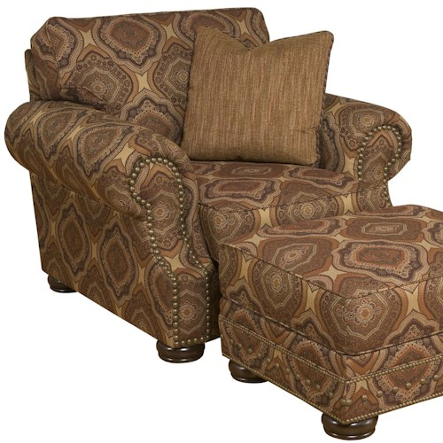 Morris Home Furnishings Edward Traditional Upholstered Chair