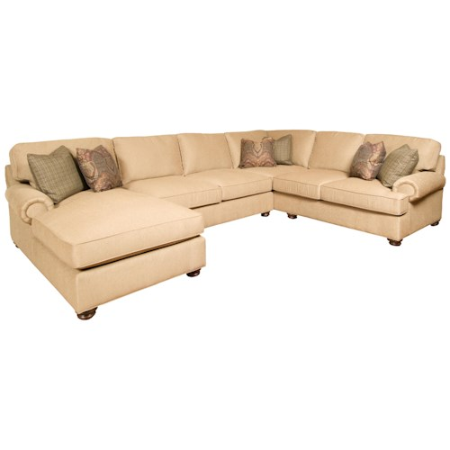 Morris Home Furnishings Henson 3-Piece Customizable Sectional with LAF Chaise