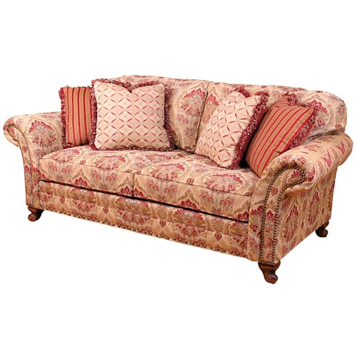 Morris Home Furnishings Katherine Traditional Stationary Sofa with Nailhead Trim