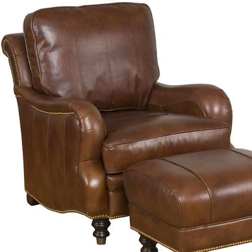 Morris Home Furnishings Accent Chairs and Ottomans London Refined Accent Chair