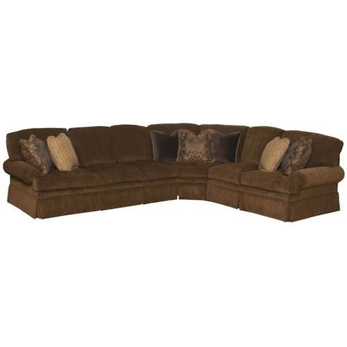 Morris Home Furnishings Lincoln Park Transitional Sectional Sofa