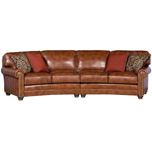 Morris Home Furnishings Winston Transitional Sectional with Nailhead Trim