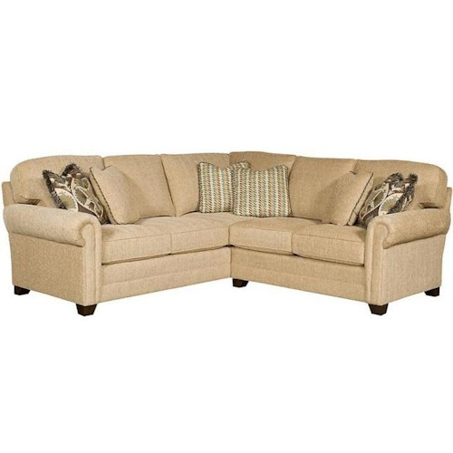 Sectional Sofas In Hickory Nc: King Hickory Winston Transitional Sectional With Rolled