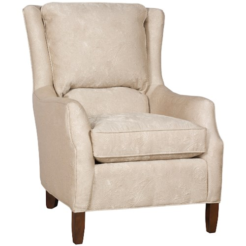 Morris Home Furnishings Writer Traditional Upholstered Writer Chair