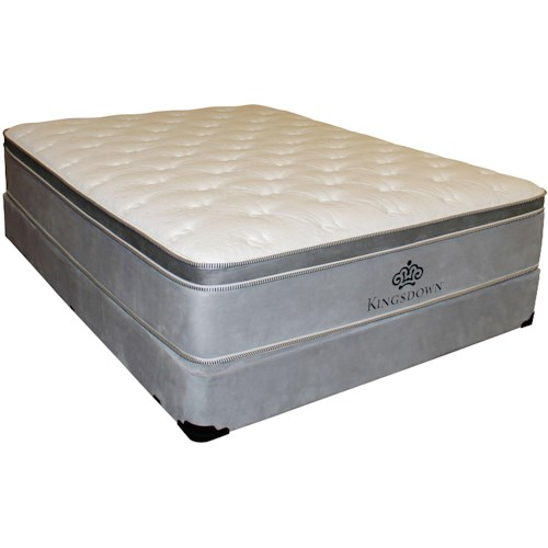 Kingsdown Anniversary Silver King Pillow Top Mattress and Foundation