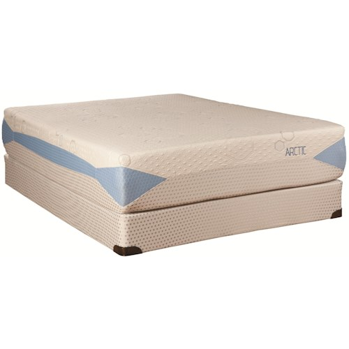 Kingsdown Blu-Tek Arctic King Memory Foam Mattress and Foundation