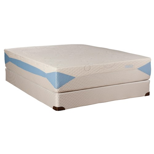 Kingsdown Blu-Tek Frost Twin Extra Long Memory Foam Mattress and Foundation