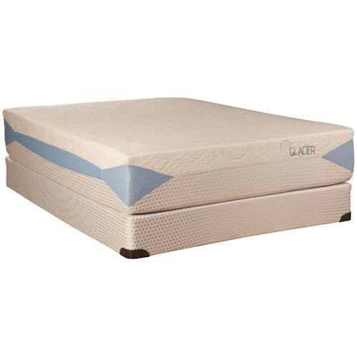 Kingsdown Blu-Tek Glacier Queen Memory Foam Mattress and Foundation