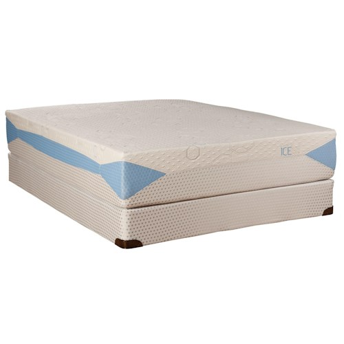 Kingsdown Blu-Tek Ice King Memory Foam Mattress with BodyMotion Adjustable Base