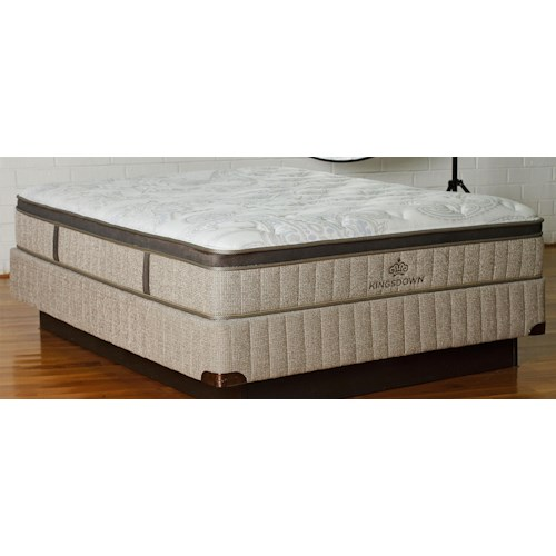 Kingsdown Sleep Haven Belem Full Euro Pillow Top Latex and Foam Mattress and 5