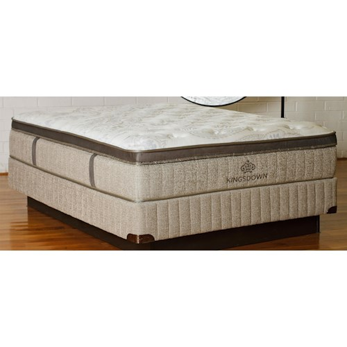 Kingsdown Sleep Haven Castilla Queen Euro Pillow Top Latex and Foam Mattress and 9