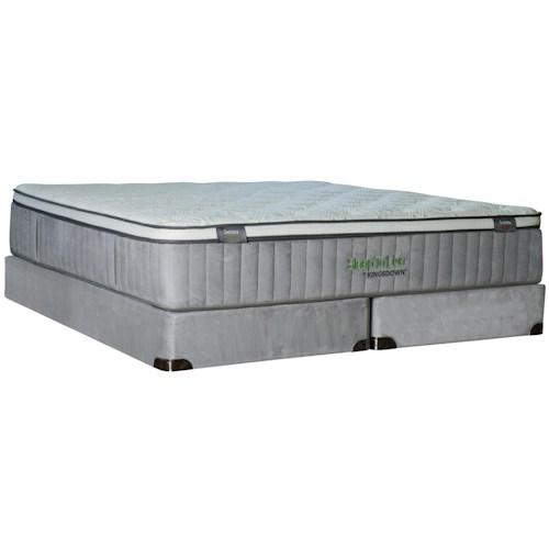 Kingsdown Sleep To Live 400 Queen Euro Top Mattress with Gel Memory Foam and 9