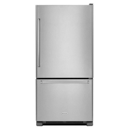 KitchenAid Bottom Mount Refrigerators Energy Star® 22 cu. ft. 33-Inch Width Full Depth Non Dispense Bottom Mount Refrigerator
