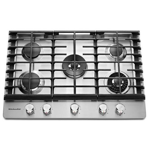 KitchenAid Gas Cooktops - 2014 30'' 5-Burner Gas Cooktop with Griddle
