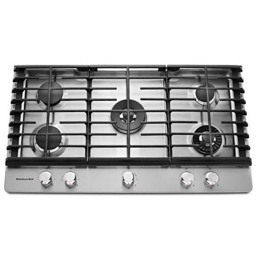 KitchenAid Gas Cooktops - 2014 36'' 5-Burner Gas Cooktop with Griddle