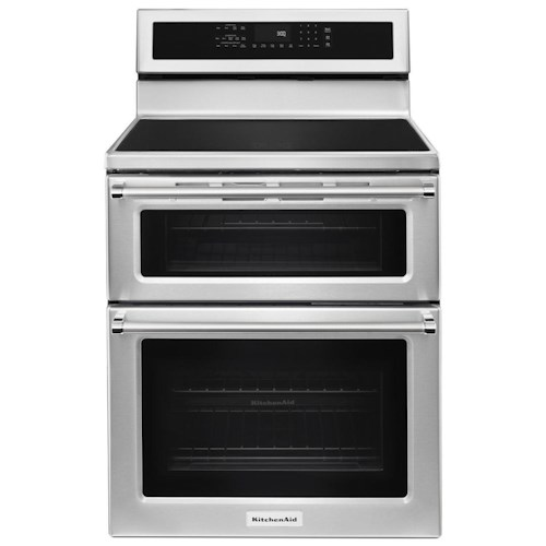 KitchenAid KitchenAid Electric Ranges 30-Inch 5 Burner Induction Double Oven Convection Range