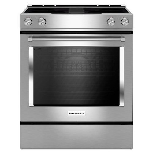 KitchenAid KitchenAid Electric Ranges 30-Inch 4-Element Electric Downdraft Slide-In Range with EasyConvect™ Conversion