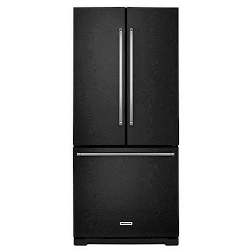KitchenAid KitchenAid French Door Refrigerators 20 cu. Ft. 30-Inch Width Standard Depth French Door Refrigerator with Interior Dispense