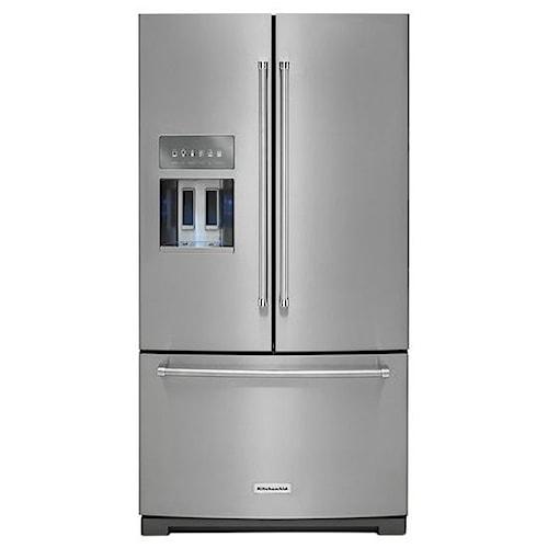 KitchenAid KitchenAid French Door Refrigerators 26.8 cu. ft. 36-Inch Width Standard Depth French Door Refrigerator with 2-Tier Freezer Drawer