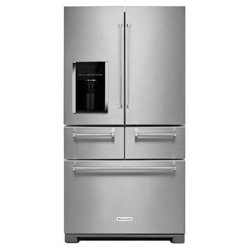 KitchenAid KitchenAid French Door Refrigerators 25.8 Cu. Ft. 36-Inch Multi-Door Freestanding Refrigerator with 3-Tier Freezer Drawer