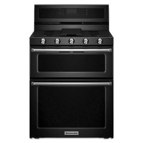 KitchenAid KitchenAid Gas Ranges 30-Inch 5 Burner Gas Double Oven Convection Range