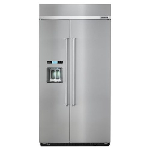 KitchenAid KitchenAid Side-by-Side Refrigerator ENERGY STAR® 25.0 Cu. Ft. 42-Inch Width Built-In Side by Side Refrigerator