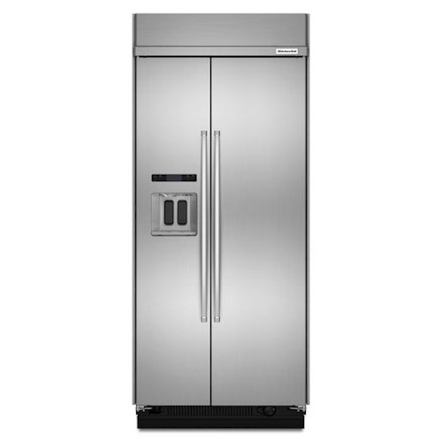 KitchenAid KitchenAid Side-by-Side Refrigerator 20.8 Cu. Ft. 36-Inch Width Built-In Side-by-Side Refrigerator with Intuitive Controls