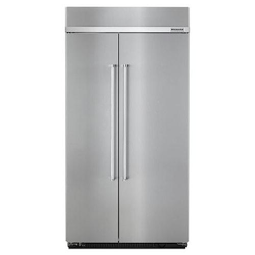 KitchenAid KitchenAid Side-by-Side Refrigerator 25.5 Cu. Ft 42-Inch Width Built-In Side by Side Refrigerator