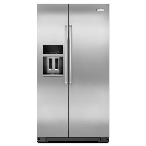 KitchenAid KitchenAid Side-by-Side Refrigerator 20 Cu. Ft. Counter Depth Side-by-Side Refrigerator with Exterior Ice and Water