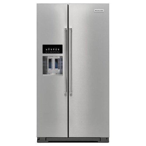 KitchenAid KitchenAid Side-by-Side Refrigerator Energy Star® 24.8 Cu. Ft. Standard Depth Side-by-Side Refrigerator with Exterior Ice and Water