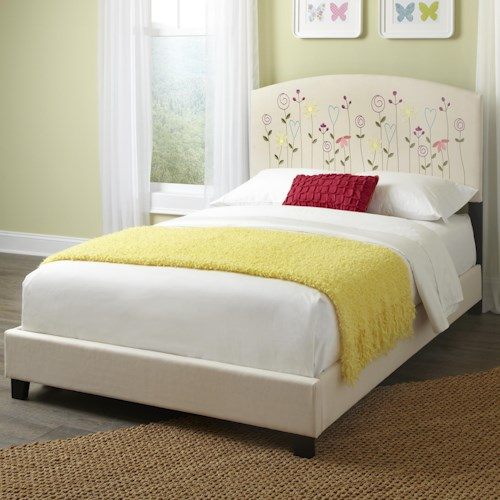 Kith Furniture Kourtney Full Flower Headboard and Footboard