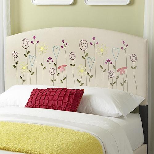 Kith Furniture Kourtney Full Flower Headboard