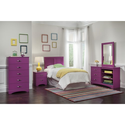 Kith Furniture 171 Raspberry Twin Bedroom Group
