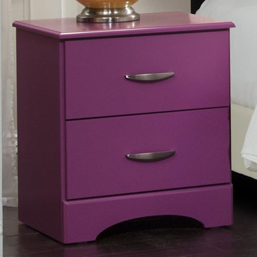 Kith Furniture 171 Raspberry Nightstand with Two Drawers