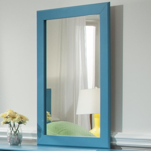 Kith Furniture 173 Turquoise Mirror with Frame