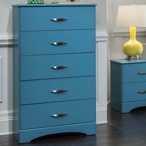 Kith Furniture 173 Turquoise 5 Drawer Chest