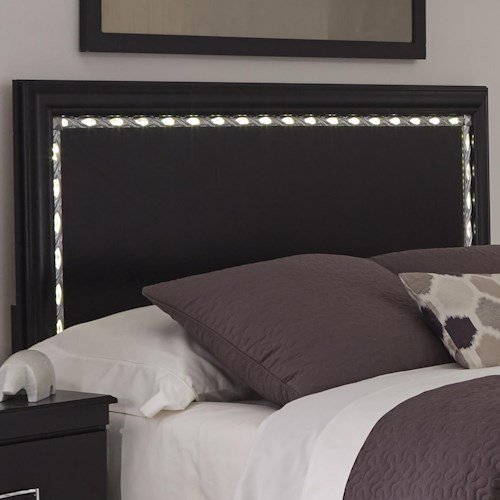 Kith Furniture Swag Full/Queen Panel Heaboard with LED Lights